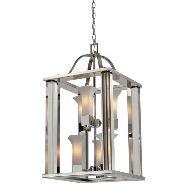 Foyer Lighting Overstock : Lotus light chrome finish foyer pendant free