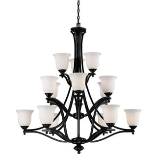 Lagoon 15-light Bronze Finish Chandelier