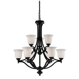 Lagoon Bronze 9-light Chandelier