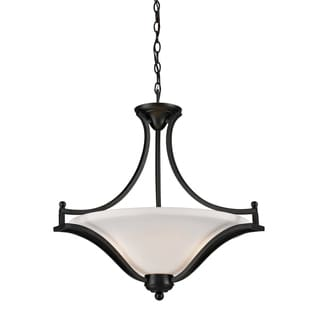 Lagoon Matte Black Three-Light Indoor Pendant