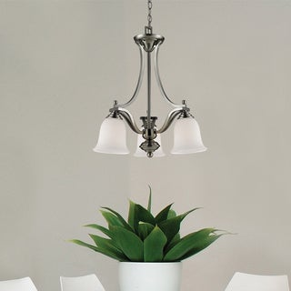 Lagoon Brushed Nickel 3-light Chandelier