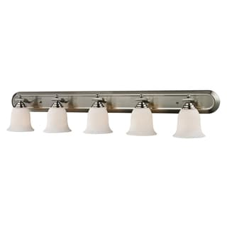 Lagoon Brushed Nickel 5-light Vanity