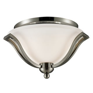 Lagoon Brushed Nickel 2-light Ceiling Light