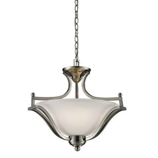 Lagoon Brushed Nickel 3-light Pendant