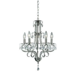 Pearl Brushed Nickel 5-light Chandelier