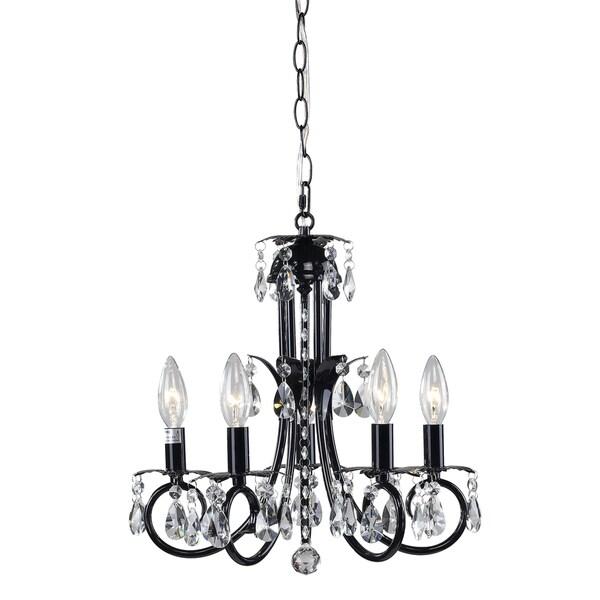 Pearl Black 5-light Chandelier