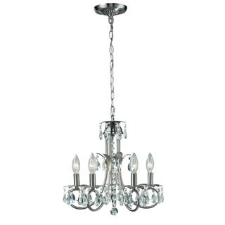 Classic Pearl Brushed Nickel 5-light Chandelier