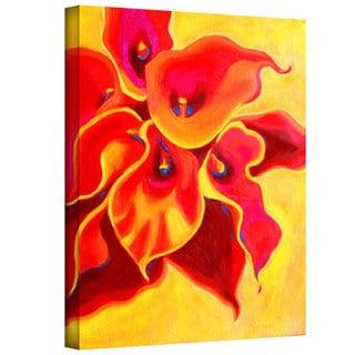 Susi Franco 'Red Calla Shadow' Gallery-Wrapped Canvas