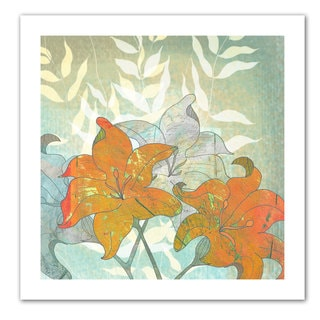 Jan Weiss 'Day Lilies' Unwrapped Canvas