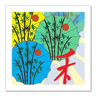 Jan Weiss 'Parasol Parade' Unwrapped Canvas