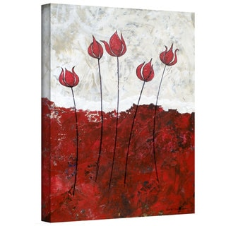 Herb Dickinson 'Hot Blooms III' Gallery-Wrapped Canvas