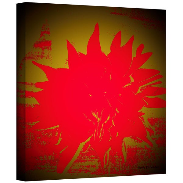 Herb Dickinson 'Scarlet Splash' Gallery-Wrapped Canvas
