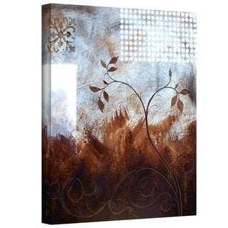 Herb Dickinson 'Splashy Umber ' Gallery-Wrapped Canvas