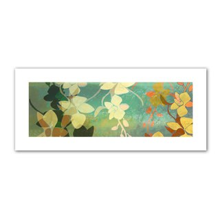 Jan Weiss 'Shadow Florals' Unwrapped Canvas - Multi