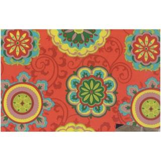 Blazing Needles Floral Indoor/Outdoor Swivel Rocker Cushion