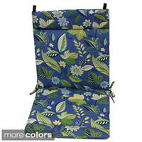 Blazing Needles Multicolored Outdoor Seat/Back Chair/Rocker Cushion