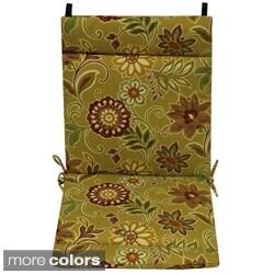 Blazing Needles Floral/ Stripe Outdoor Seat/Back Chair/Rocker Cushion