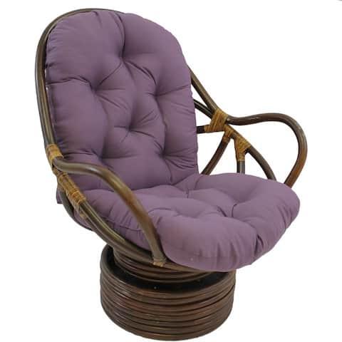 "Blazing Needles 48-inch Swivel Rocker Cushion (Cushion Only) - 48""l x 24""w x 5""d"