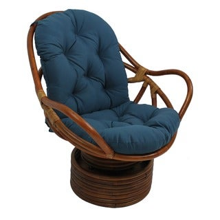Blazing Needles Solid Twill Swivel Rocker Cushion