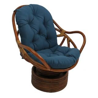 Blazing Needles Solid 48-inch Swivel Rocker Cushion - 48 x 24|https://ak1.ostkcdn.com/images/products/7967323/P15337879.jpg?impolicy=medium
