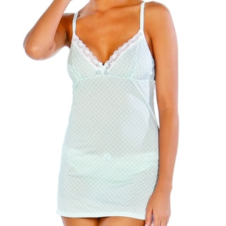Affinitas Women's Baby Blue 'Taylor' Chemise
