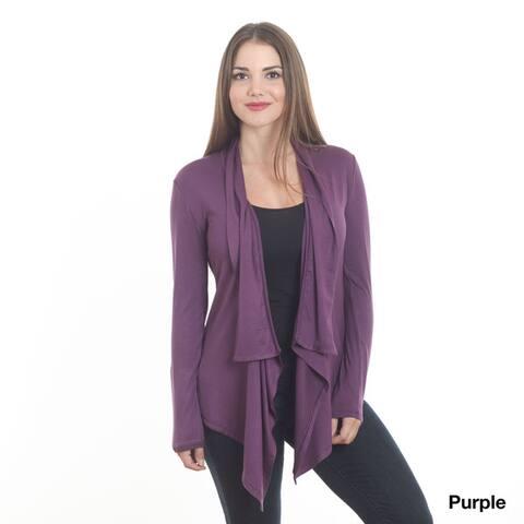 Women's Solid Open Front Cardigan