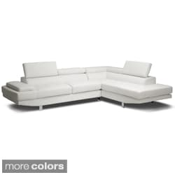 Baxton Studio Selma BondedLeather Modern Sectional Sofa  sc 1 st  Overstock : chaise longue sofa - Sectionals, Sofas & Couches