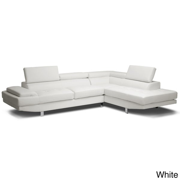 Shop Baxton Studio Selma BondedLeather Modern Sectional Sofa - Free ...
