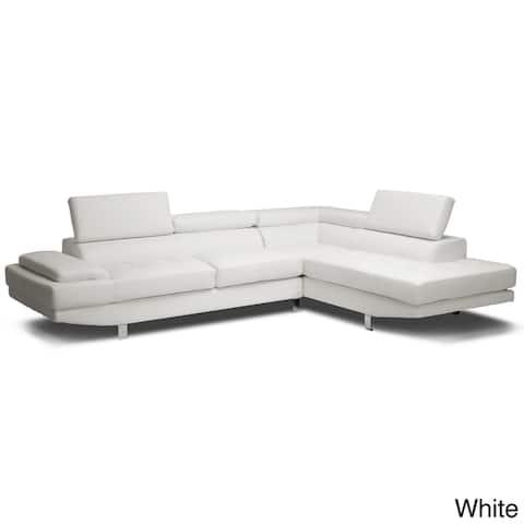 Baxton Studio Selma BondedLeather Modern Sectional Sofa