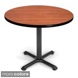 OFM XT 36-inch Black Base Round Table