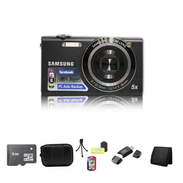 Samsung SH100 14.2MP Black Digital Camera 4GB Bundle