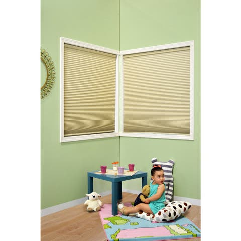 Chicology Cordless Cellular Shade Blackout Honeycomb Fabric Secret Tapioca Beige (23-inch x 72-inch
