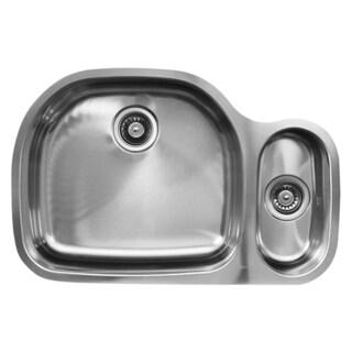 Ukinox D537.80.20.8L 80/20 Double Basin Stainless Steel Undermount Kitchen Sink