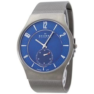 Skagen Men's Titanium Case Blue Dial Watch
