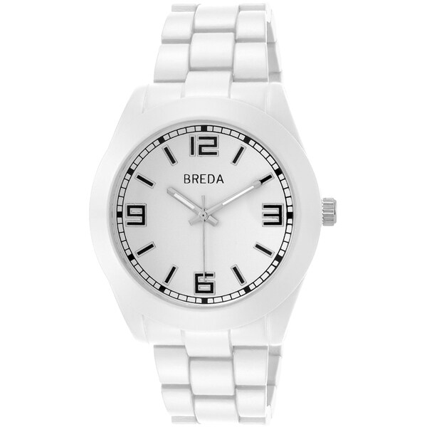 Breda Men's 'Charlie' White Dial Watch