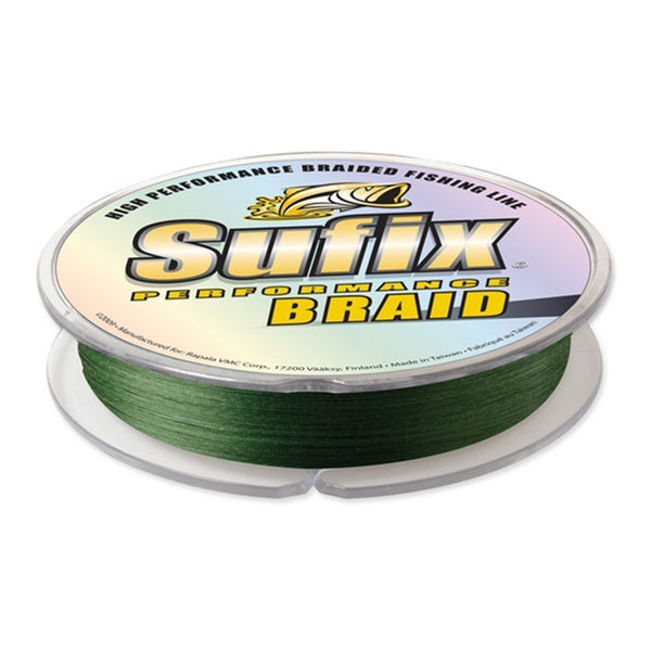 150-yard Spool Sufix Performance Braid Lo-vis Green Fishing Line