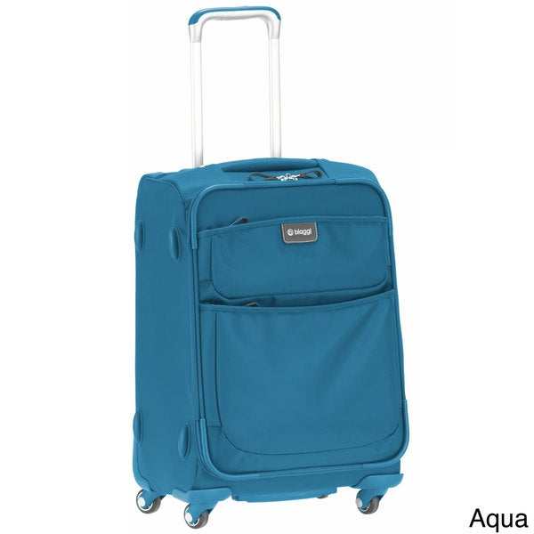 Biaggi Contempo Collection 20-inch International Foldable Carry-on Spinner Upright