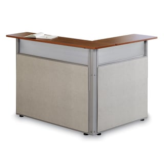 ofm l shaped reception desk boss office products plexiglass reception