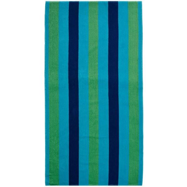 Celebration Jacquard 2-piece Cabana Blue Striped Beach Towel Set
