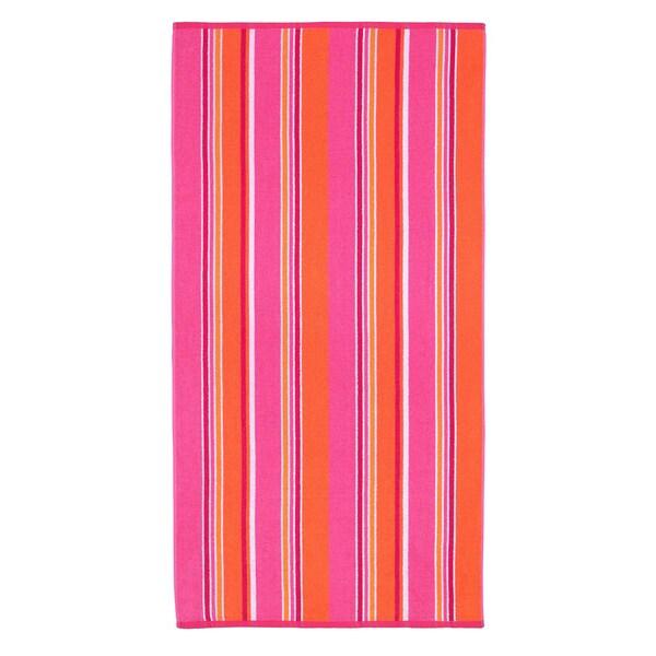 Celebration Jacquard 2-piece Sunbridge Pink Multi Striped Beach Towel Set