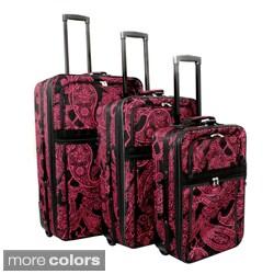 World Traveler Bandana Expandable 3-piece Upright Luggage Set