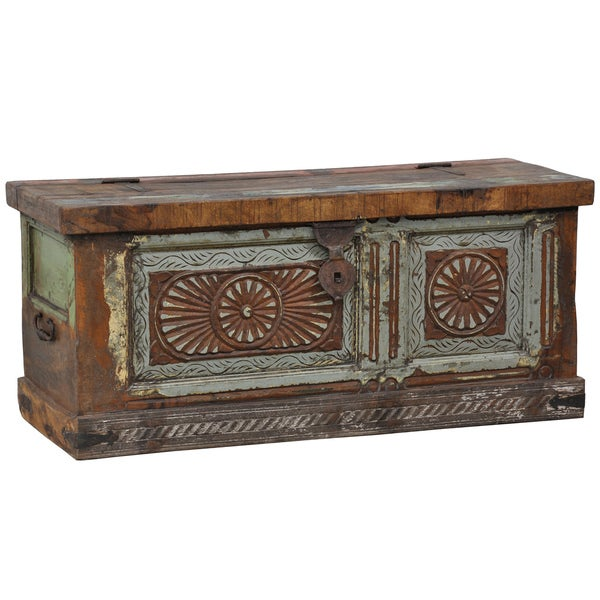 Kosas Home 'Alec' Old Panel Reclaimed Wood Storage Box