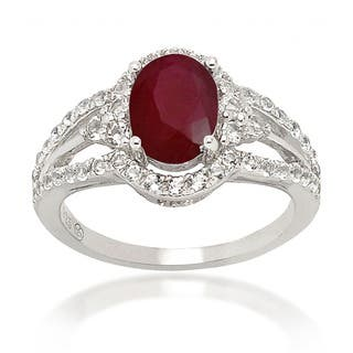 De Buman Sterling Silver Ruby and White Topaz Ring (Option: 6.75)|https://ak1.ostkcdn.com/images/products/7967686/P15338495.jpg?impolicy=medium