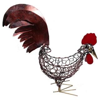 Handmade Deep Wire 12-inch Chicken Bowl (Indonesia)