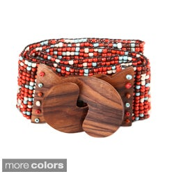 Splatter Some Colors Beaded Belt (Indonesia)