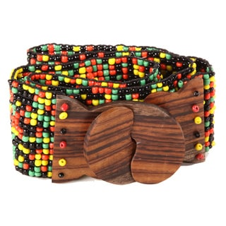 Splatter Some Rasta Beaded Belt (Indonesia)