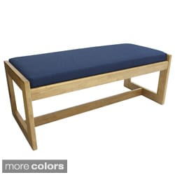 Regency Seating Double Seat Wood/ Fabric Bench