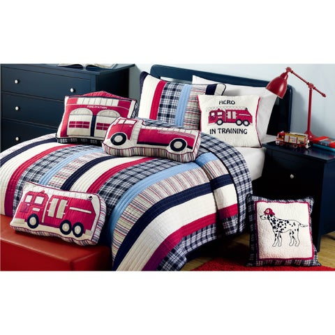 Ronnie Varsity Striped Quilt and Sham Set