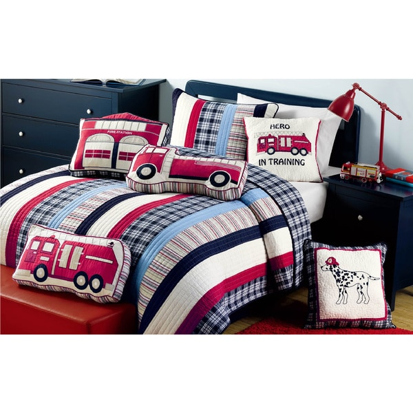 Ronnie Varsity Striped Quilt and Sham Set. Opens flyout.