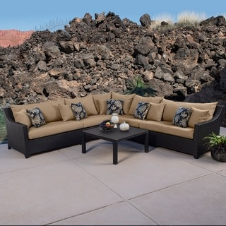 RST Delano 6-piece Corner Sectional Sofa and Coffee Table Set Patio Furniture